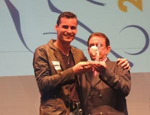 Bruno goleiro criciúma premiação catarinense 2013 (Foto: Renan Koerich)