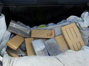 Droga apreendida foi levada para a Delegacia Especializada de Narcóticos, em Natal (Foto: Sérgio Costa/Portal B.O)