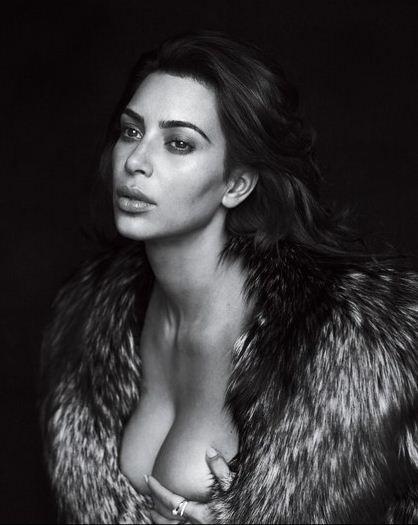 Kim posa sensual em clique para a GQ americana (Foto: Reprodução)