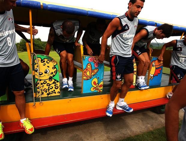fluminense jogadores trem do hotel (Foto: Nelson Perez/FluminenseFC)