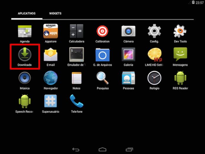 Abra a pasta de download em seu tablet Android (Foto: Reprodução/Helito Bijora)