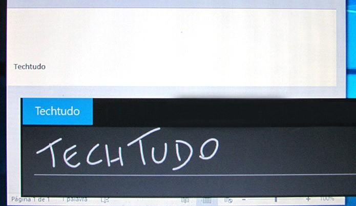 Escreva na tela e veja o texto convertido automaticamente (Foto: Reprodução/Paulo Alves)