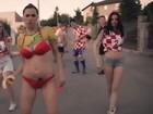 Croata tenta ser musa e canta: 'Quero ser famosa como Larissa Riquelme'