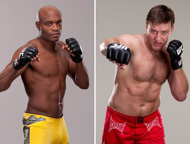 Anderson Silva x Stephan Bonnar UFC MMA (Foto: Montagem sobre foto da Getty Images)