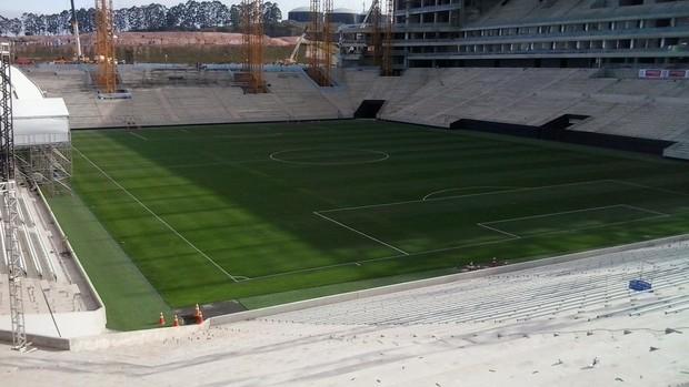 Arena Corinthians campo (Foto: Divulgação)