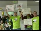 Trabalhadores do Incaper em greve protestam em Cachoeiro, ES