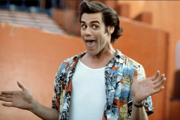 O ator Jim Carrey no papel do detetive Ace Ventura (Foto: Reprodução)