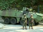 Forças Armadas dão apoio a operação da Polícia Militar na Rocinha