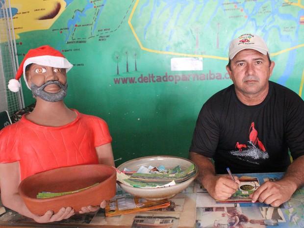 Morais Brito,dono de agência de turismo, fala do crescimento em Parnaíba (Foto: Patrícia Andrade/G1)