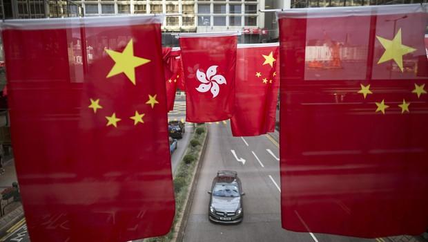 Bandeiras da China ; PIB da China ; economia chinesa ;  (Foto: Jerome Favre/EFE)