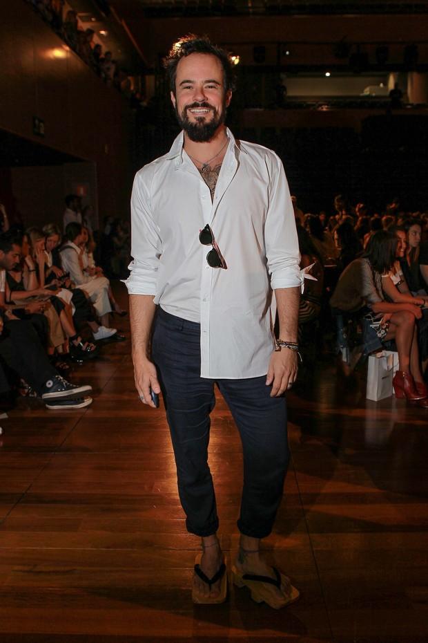 Paulo Vilhena no SPFW (Foto:  Raphael Castello/ Ag. News)