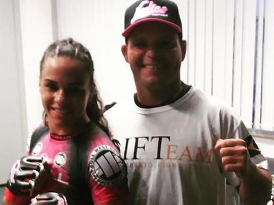 Talita Bernardo Josimar Júnior treinador UFC (Foto: Arquivo pessoal)