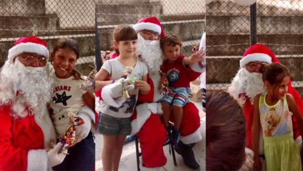 Painel RPC conta a história de Tio Toni, o ajudante do Papai Noel (Foto: Reprodução/ RPC)
