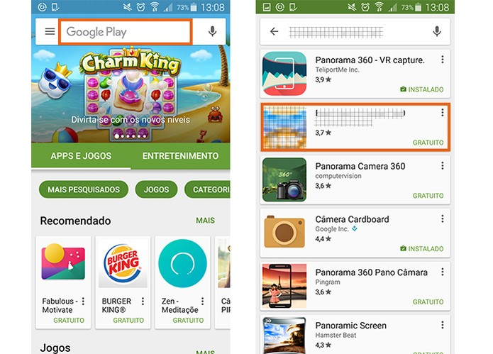 Encontre o aplicativo na Google Play Store (Foto: Reprodução/Barbara Mannara)