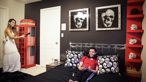 Mayra Cardi no quarto do filho, Lucas (Foto: Luan Assis/Divulgação)
