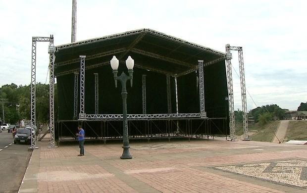 Praça da Gameleira será o último ponto de parada da Tocha Olímpica em Rio Branco (Foto: Acre TV)