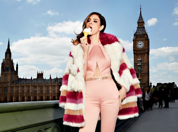 Luciana Gimenez, Londres, sorvete (Foto: Robert Astley Sparke)