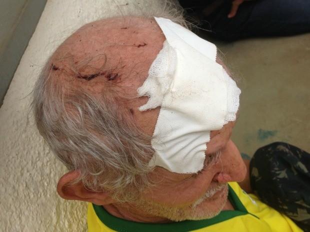 Idoso de 65 anos foi agredido com golpes de facão por pedir para homem diminuir volume do som (Foto: Valéria Oliveira/ G1)