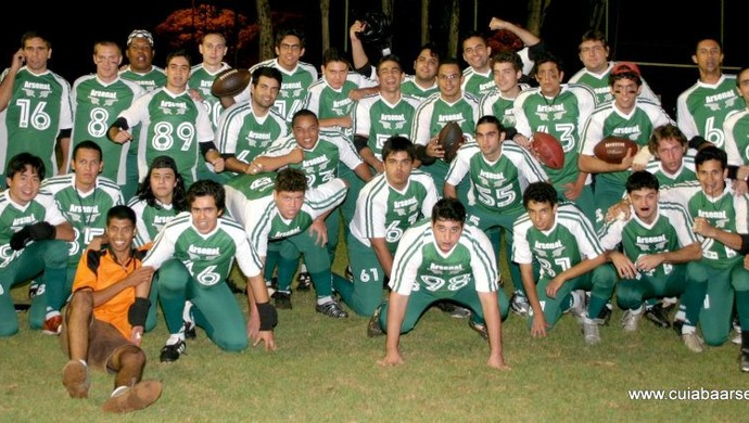 Equipe que representou o Cuiabá Arsenal em sua primeira partida (Foto: Assessoria/Cuiabá Arsenal)