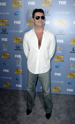 Simon Cowell em evento para promover a terceira temporada do 'The X Factor' em Los Angeles, nos Estados Unidos (Foto: Kevin Winter/ Getty Images/ AFP)