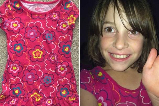 A pequena Cami e sua camiseta favorita (Foto: Reprodução/Facebook)