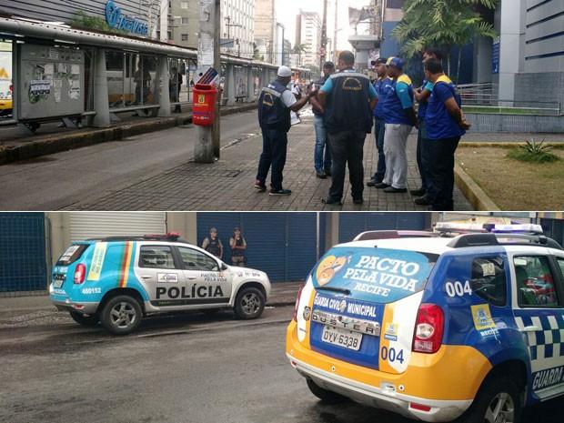 Com apoio da PM e Guarda Municipal, equipes da Prefeitura do Recife vão retirar ambulantes de trecho da Avenida Conde da Boa Vista (Foto: Penélope Araújo / G1)