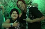 Ronaldinho encontra piauiense que faz sucesso imitando Weslley Safadão  (Reprodução / Instagram)