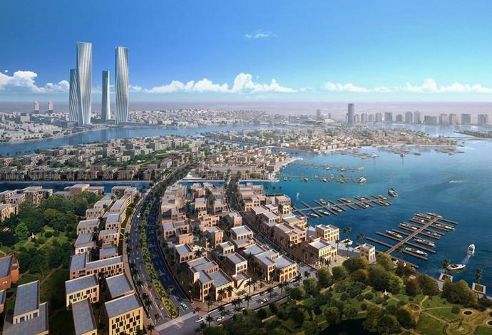 Cidade terá 25 mil residências, hospitais, escolas e metrô (Foto: Lusail.com)