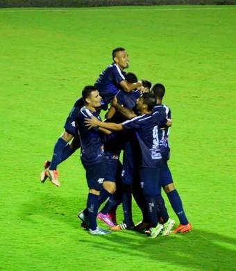 São José dos Campos FC comemora São José (Foto: Danilo Sardinha/GloboEsporte.com)