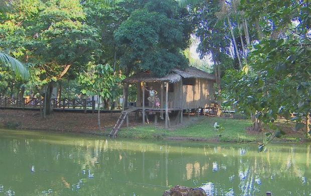 Museu Sacaca que conta um pouco sobre a história dos povos da Amazônia (Foto: Reprodução/TV Amapá)