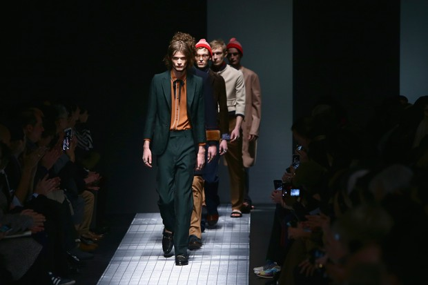 Desfile de inverno 2015 da Gucci (Foto: Getty Images)