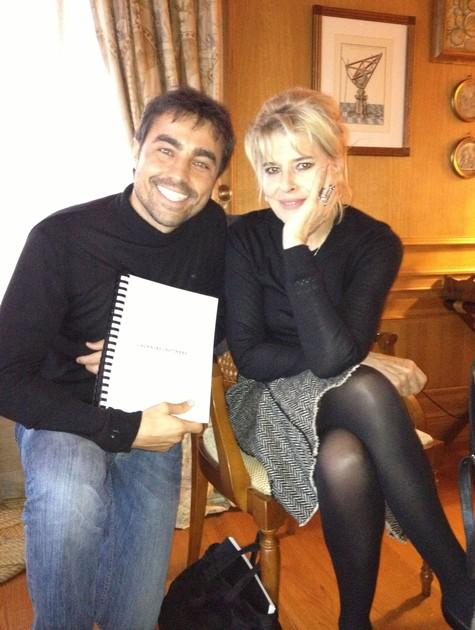 Ricardo Pereira e Fanny Ardant (Foto: Arquivo pessoal)