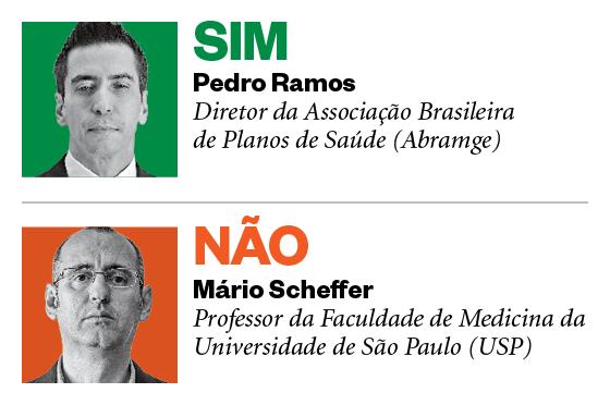 Debatedores: Pedro Ramos e Mário Scheffer (Foto: Época)