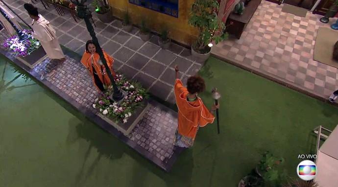 Elis e Gabriel Flor desistem da primeira Prova do Líder do BBB17 (Foto: TV Globo)