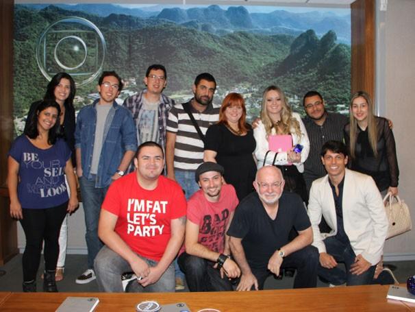 Silvio de Abreu em encontro com blogueiros (Foto: Amanda Freitas / TV Globo)