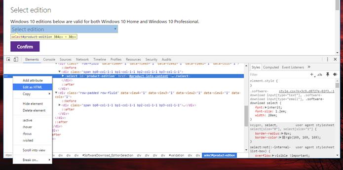 Clique em Edit as HTML (Foto: Felipe Alencar/TechTudo)