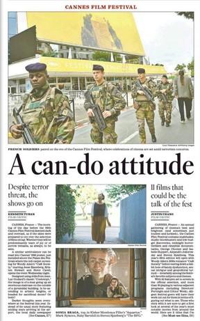 Filme Aquarius ganhou destaque no Los Angeles Times (Foto: Reprodução)
