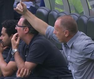 Mano Menezes chama árbitro ao ser expulso contra o Fluminense (Foto: Reprodução SporTV)