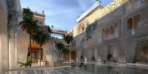 Dubai se inspira em Veneza para criar resort flutuante (Foto: Divulgação)