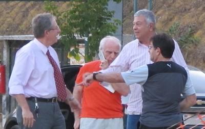 Carlos Eduardo, Mantuano e René Simões (Foto: Marcelo Baltar)