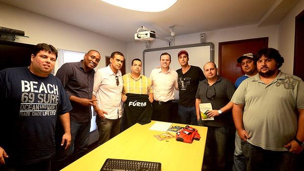 André Lazaroni reunião torcidas organizadas Maracanã (Foto: Divulgação)
