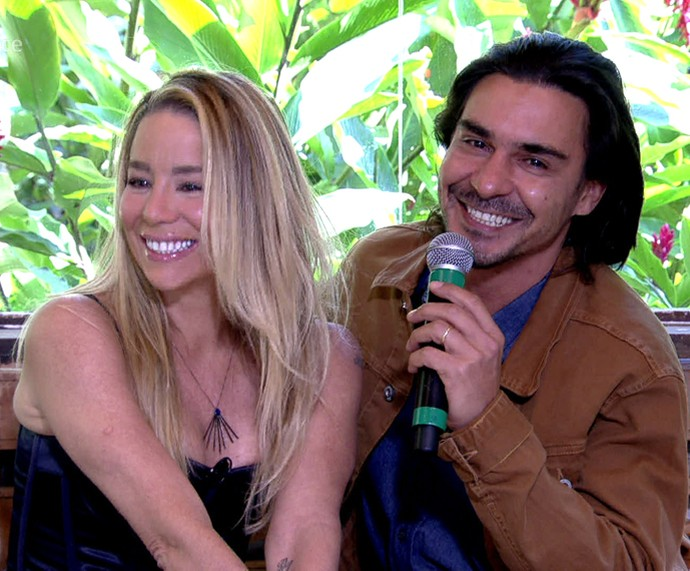 Danielle Winits e André Gonçalves no 'Mais Você' (Foto: TV Globo)