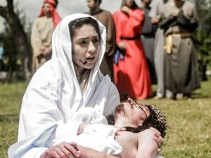 Cena do espetáculo 'Paixão de Cristo - O musical', no Distrito Federal (Foto: Divulgação)