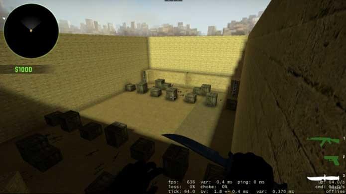 Fuzis poderosos batizam mapa de CS:GO (Foto: Divulgação/Steam)