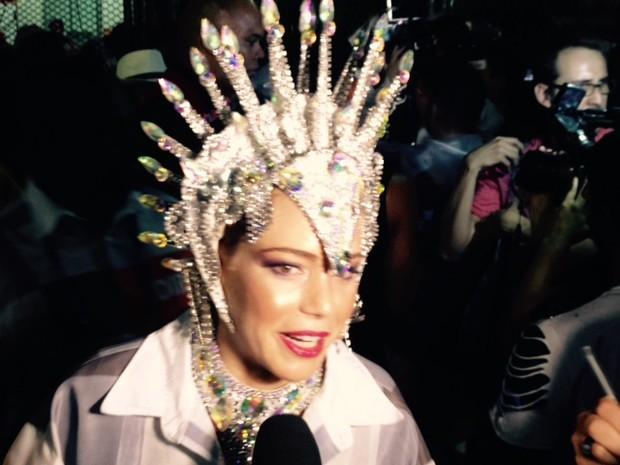Leandra Leal diz que curte carnaval desde criança (Foto: Thiago Brandão / G1)