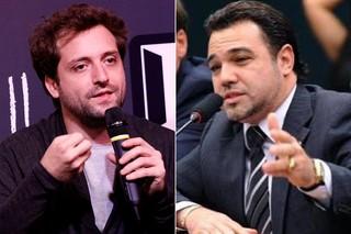 Gregório Duvivier e Marco Feliciano (Foto: Celso Tavares/EGO - Feliciano/ Instagram )