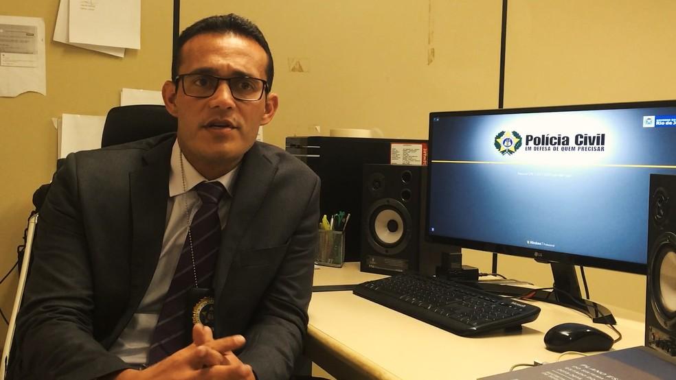 Delegado Marcelo Machado foi o responsável pelas investigações de Sailson na DHBF (Foto: Patricia Teixeira/G1)