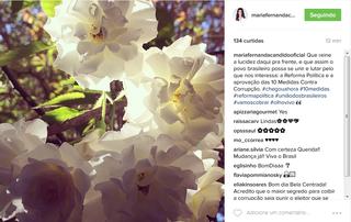 Post de Maria Fernando Cândido (Foto: Reprodução/Instagram)