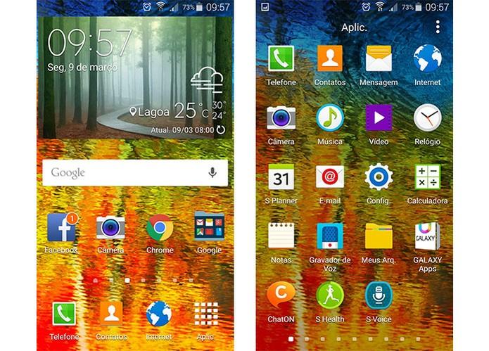 Interface Android 5.0 Lollipop (Foto: Reprodução/Barbara Mannara)