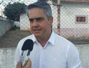 Beto Santos - presidente do América-RN (Foto: Jocaff Souza/GloboEsporte.com)